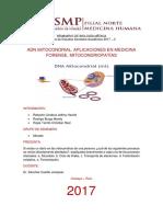Adn Mitocondrial. Aplicaciones n Medicina Forense. Mitocondriopatías