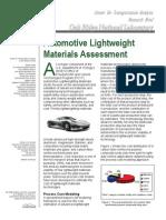 Evaluación de materiales automotrices ligeros