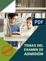 Temas de examen de admisión