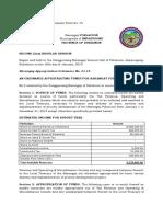 Barangay Budget Authorization Form CY2019