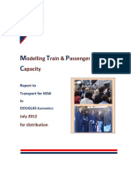 Modelling Trains & Passenger Capacity
