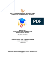 Lineamientos Generales Para La Presentación Del Trabajo Especial de Grado