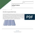Ultra Rib Corrugated Metal Panels |