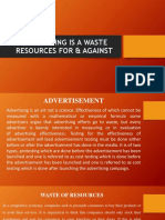 ADVERTISING IS A WASTE RESOURCES FOR & AGAINST.pptx