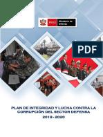 Plan de Integridad y lucha contra la corrupcion MINDEF