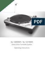 Sl-1200gr Tqbm0053 Eb Eng