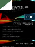 KARACHI Towards 100% Renewable Energy