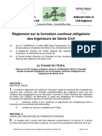 ONIGC Règlement Formation Continue