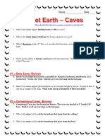 Planet Earth Caves Worksheet