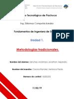 Metodologías tradicionales de desarrollo de software