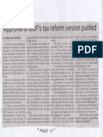 Philippine Star, Aug. 22, 2019, Approval of DOF's tax reform version pushed.pdf