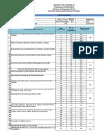 Smes-item Analysis 2016