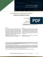 Redalyc.las Candidaturas Independientes en México