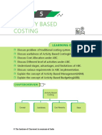 notes of activity based costing