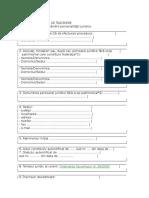 Cerere înscriere personalitate juridică