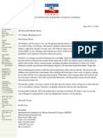IFBNC KKL to Senator Boxer