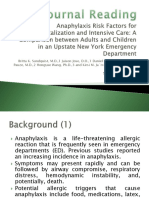 Anaphylaxis Risk Factors for Hospitalization