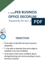 Proper Decorum Lecture 2019