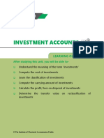 Notes to Investment accounting