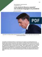 _Bolsonaro é Incapaz de Coerente__    Linguagem Do Presidente - Brasil - RFI