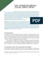 As Viagens Ferroviárias Em Portugal (1845-1896)