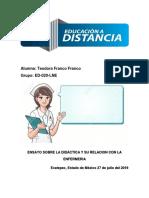 Ensayo Sobre La Didactica en Enfermeria