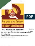 OISD Standards List - Oil Industry Safety Directorate (OISD)