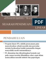 Sejarah Program Linear