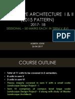 Landscape Architecture i & II-1