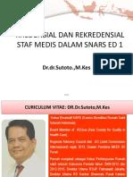05.Kredensial Dan Rekredensial Staf Medis Dalam Snars Ed 1