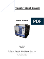 Transfer circuit breaker