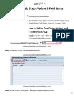 How to Define Field Status Variant & Field Status Group in SAP
