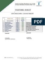 Overtime Sheet