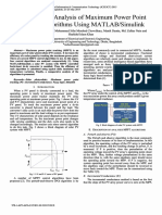 Modeling and Analysis of Maximum Power Point Tracking 2015