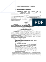 Contract to Sell Caloocan Property