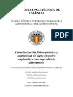 PALASÍ - Caracterización físico-química y nutricional de algas en polvo empleadas como ingredient...