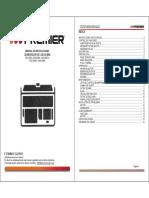 Manual de Instrucciones Generador de Gasolina Gen-2385, Gen-2386a, Gen-2387a, Gen-2388a, Gen-2389a . Índice