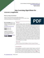 Survey of Machine Learning Algorithms for Disease Diagnostic