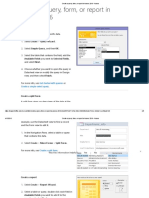 Create a Query, Form, Or Report in Access 2016 - Access