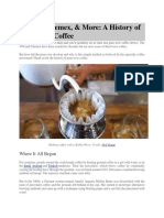 A History of Pour Over Coffee