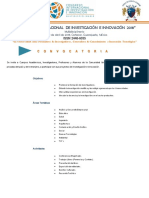 Convocatoria y Lineamientos Generales 2018
