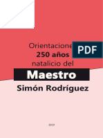 Orientaciones de los 250 Natalicio del Maestro Simón Rodriguez