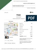 Ola-Gmail - Your Sunday Ride to Indira Gandhi International Airport