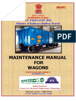 Draft Maintenance Manual for Wagons