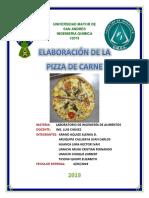 INFORME PIZZA DE CARNE
