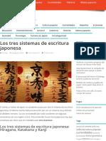 Los Tres Sistemas de Escritura Japonesa