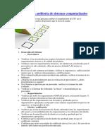 Check List Para Auditoria de Sistemas