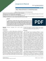 Predictors Factors of Low Bone Mineral Density in Dental Panoramic Radiographs
