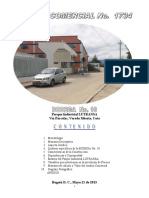 Avalúo No. 1734 Bodega 10 Parque Industrial LUTRANSA -Cota