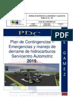 Plan Derrame Hidrocarburos 2019